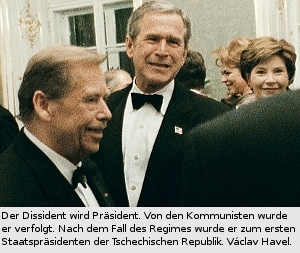 Václav Havel, Bernd P.Holst, George W. Bush