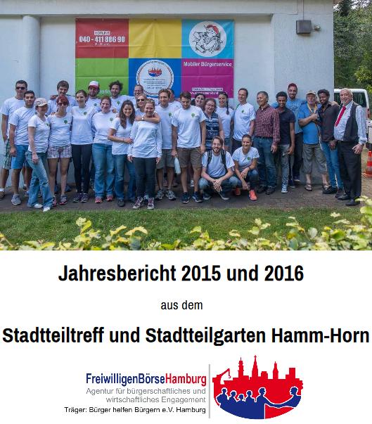 Jahresbericht 2015 und 2016 aus dem Stadtteiltreff und Stadtteilgarten Hamm-Horn